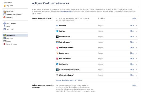 Qué ven las apps de Facebook