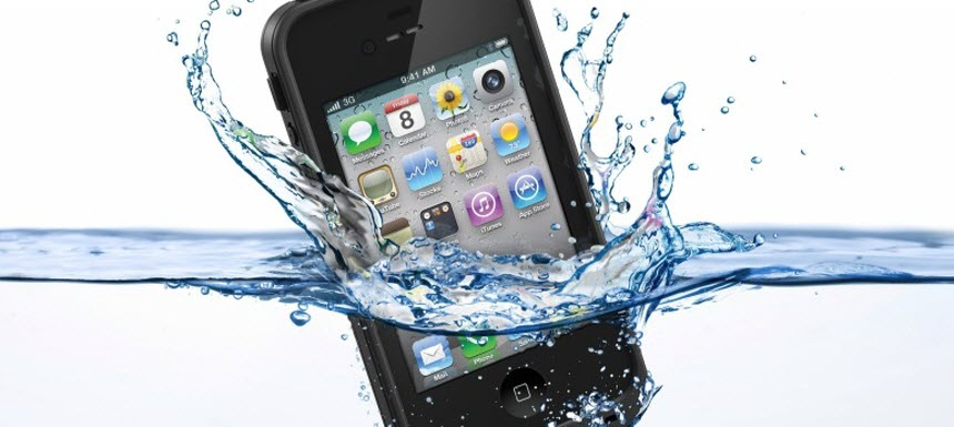 Anuncio falso iphone sumergible