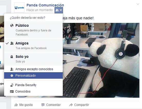 Privacidad fotografias Facebook