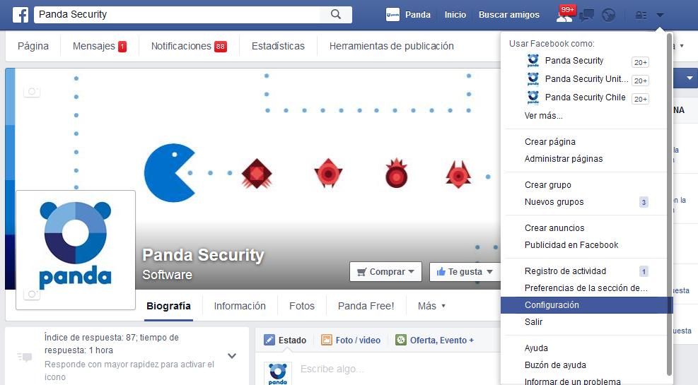 Configuración privacidad Facebook