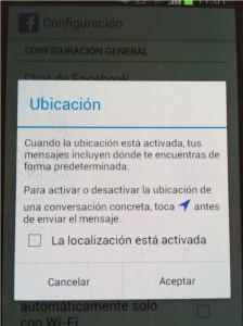 desactivar geolocalización messenger
