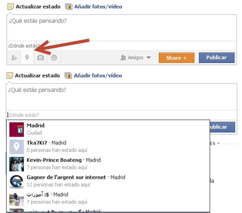 geolocalización Facebook estoy aqui