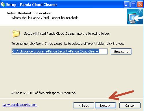Panda Cloud Cleaner-instalación