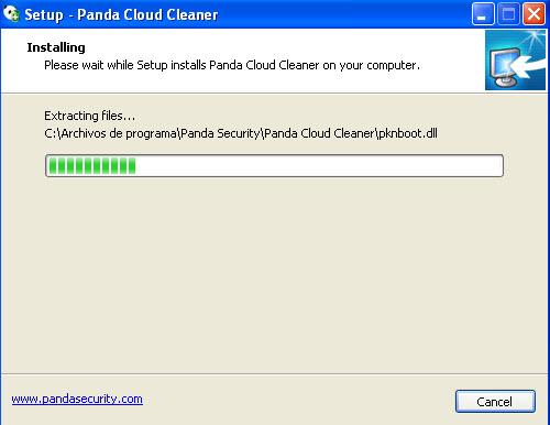 Panda Cloud Cleaner-copia de ficheros