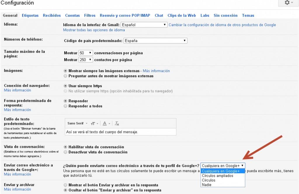 Gmail privacidad