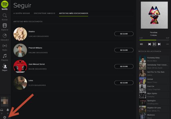 Spotify - Panel de control
