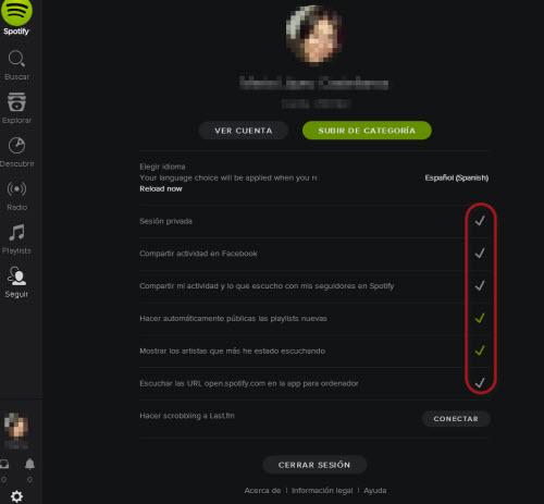 Spotify - Privacidad