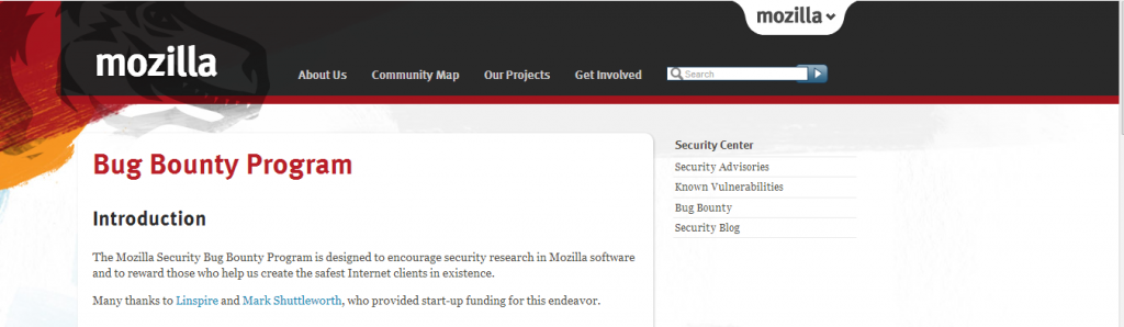 mozilla bounty program