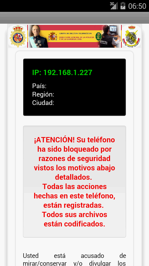 virus policia android