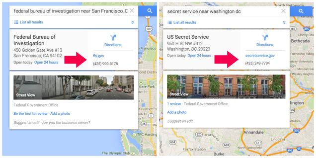 ataque google maps FBI