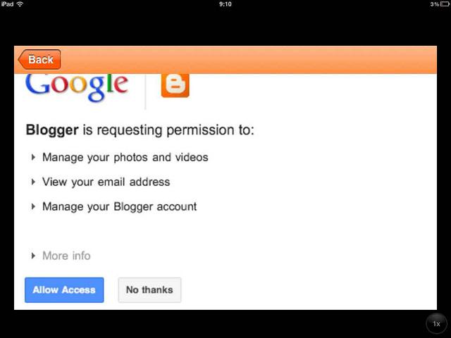 Permisos Blogger