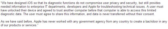 comunicado Apple