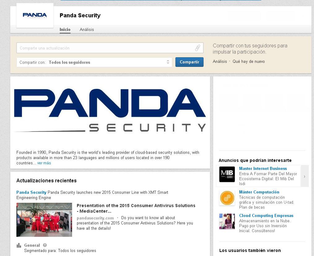 linkedin Panda Security