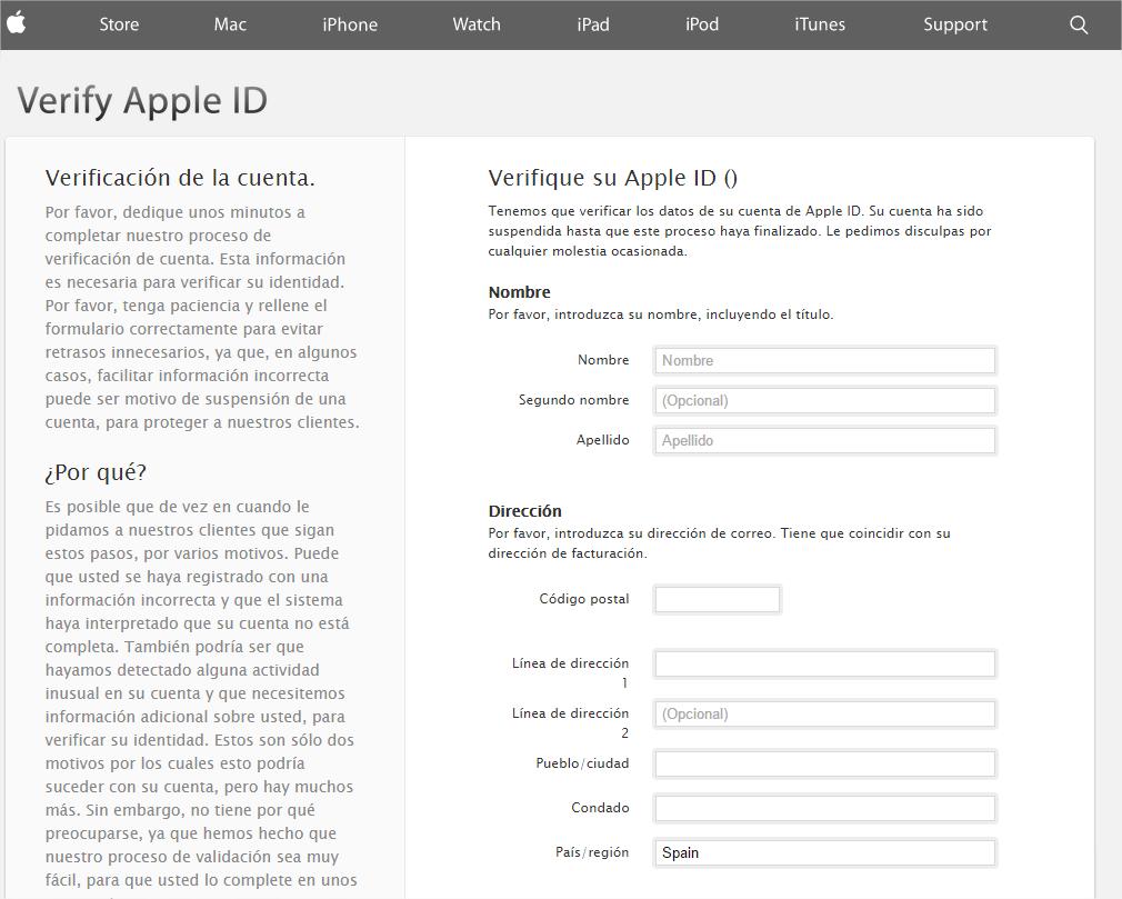 phishing apple ID