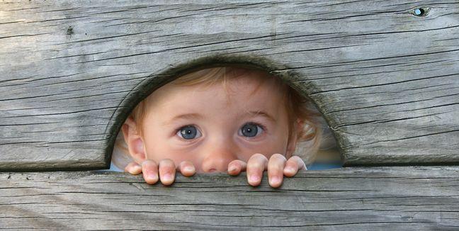 niño asustado