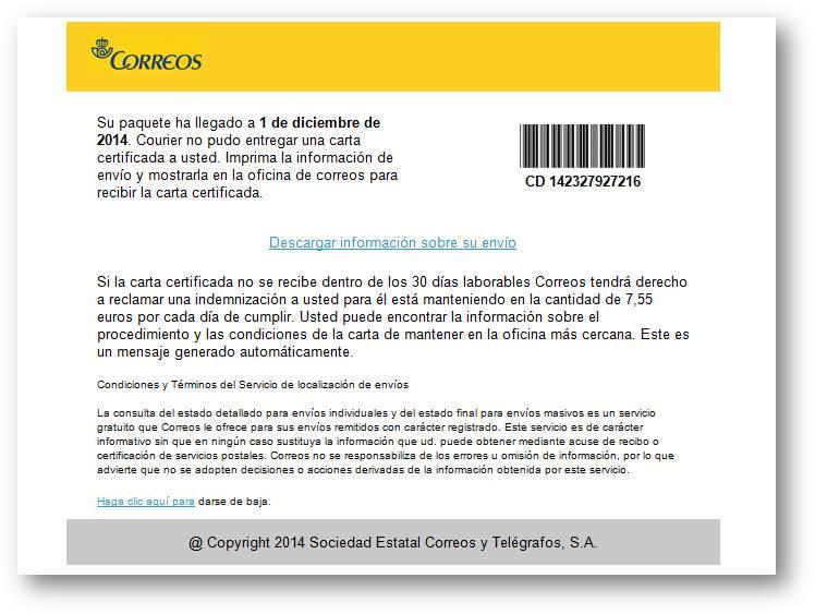 correos ransomware