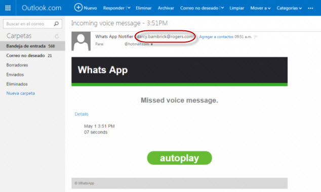 whatsapp mensaje voz