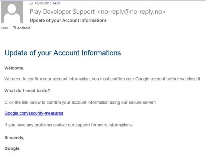 phishing desarrolladores