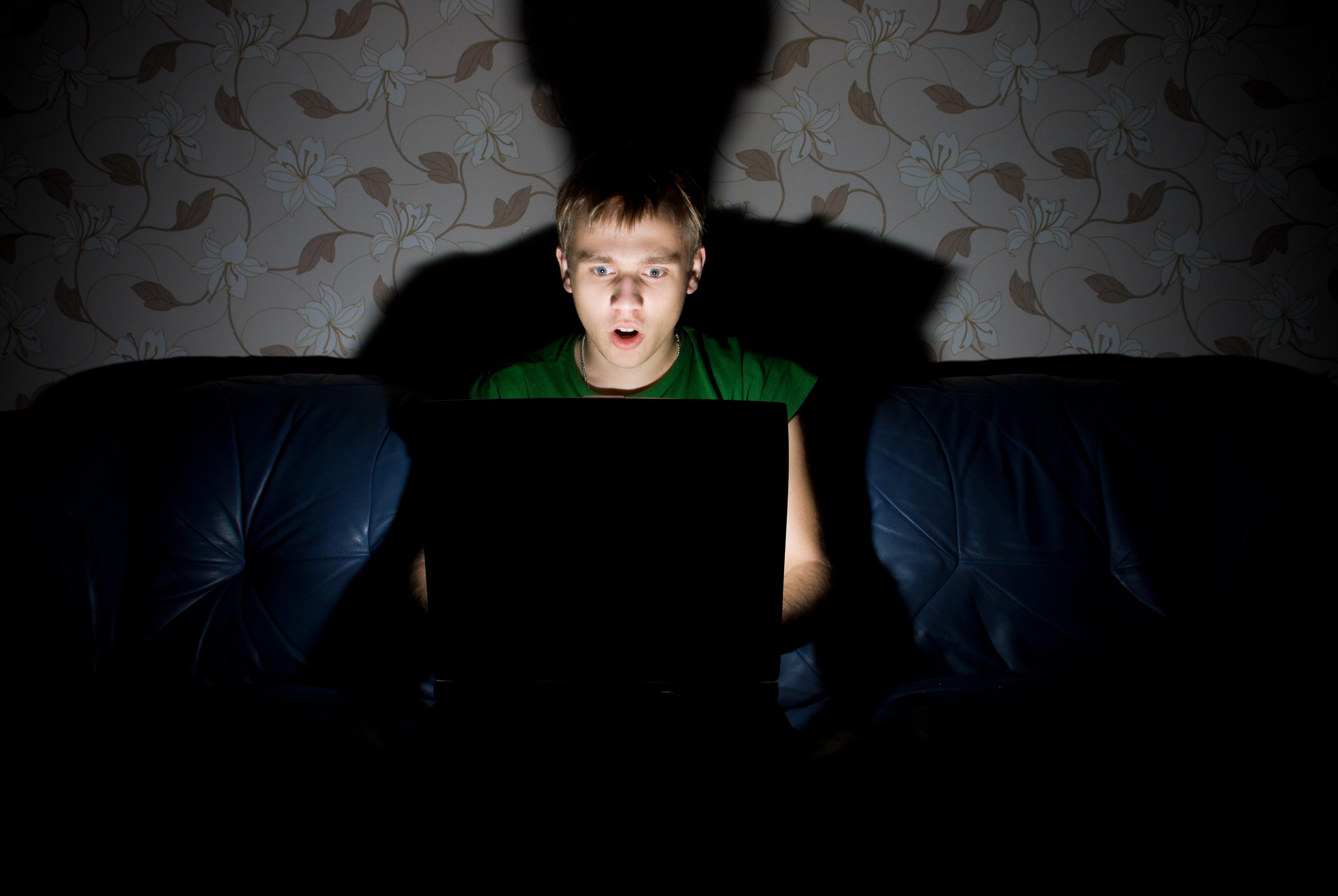 ordenador asustado