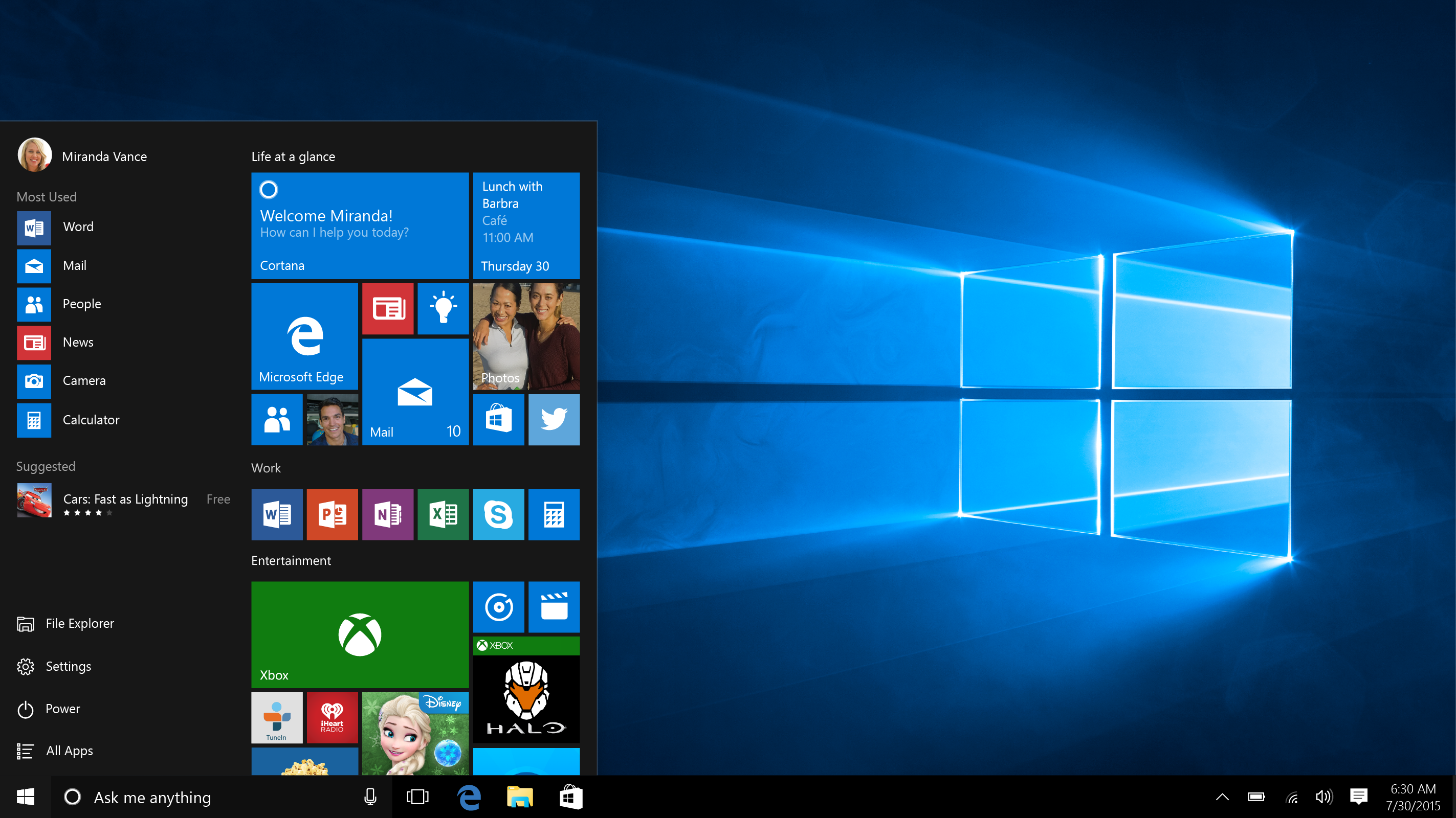 aplicaciones windows 10