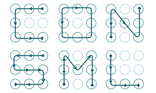 secuencias patrones android