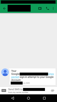 Sms google date