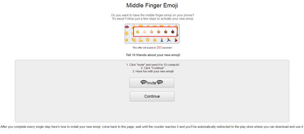dedo emoji