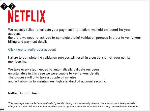 ¡Cuidado! Un Netflix falso quiere robarte tus datos