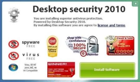 Installation screen of DesktopSecurity2010