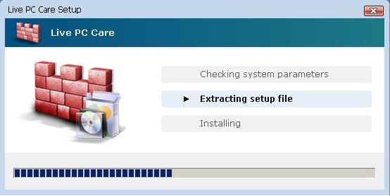 Installation process of LivePcCare