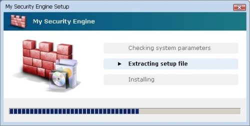 Installation process of MySecurityEngine
