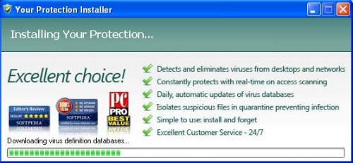 Installation process of YourProtection
