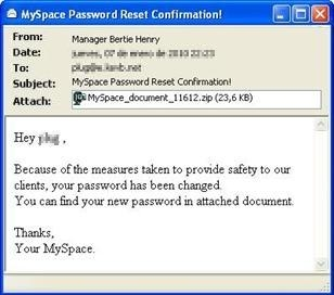 MySpace message used to distribute Sinowal.WTF