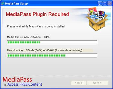 Installation process of MediaPass Plugin