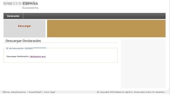 Website imitating the banking entity's