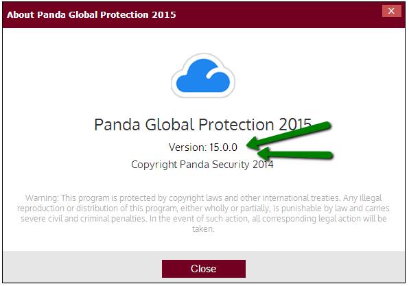 Versión Panda Antivirus
