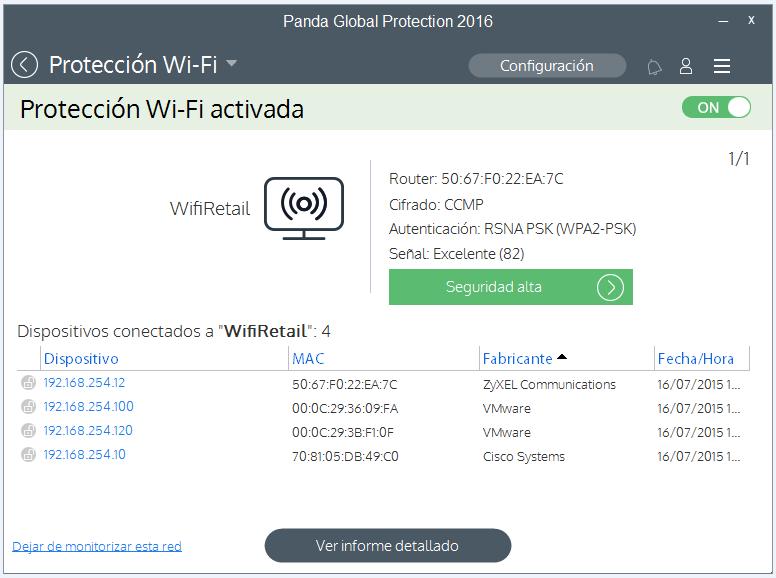 WiFi interfaz