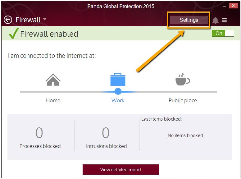 Firewall widget