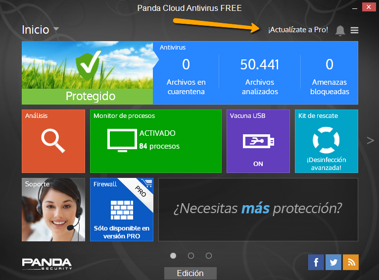 Cloud AV actualizar a Pro