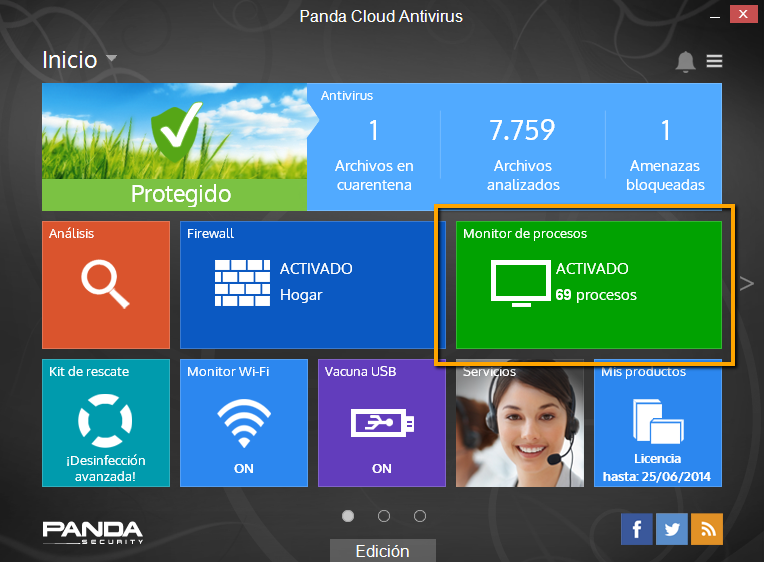 Monitor de procesos