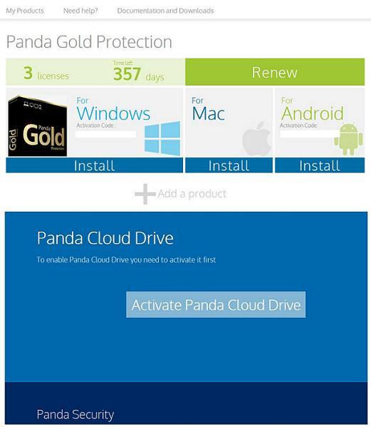 Activate Panda Cloud Drive