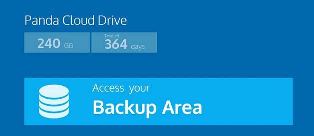 Panda Cloud Drive backup area