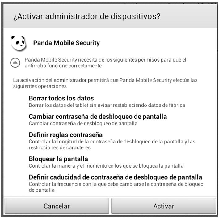 Activar administrador de dispositivos