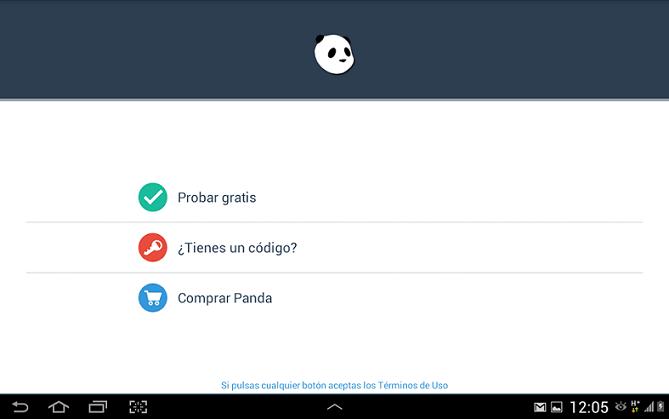 Instalación Panda Mobile Security